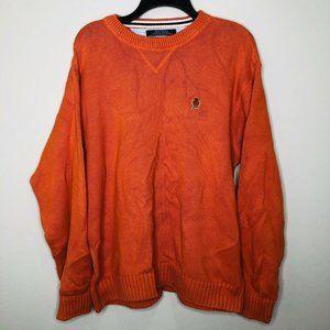 Vintage 90s Tommy Hilfiger Orange Knit Crest KITH